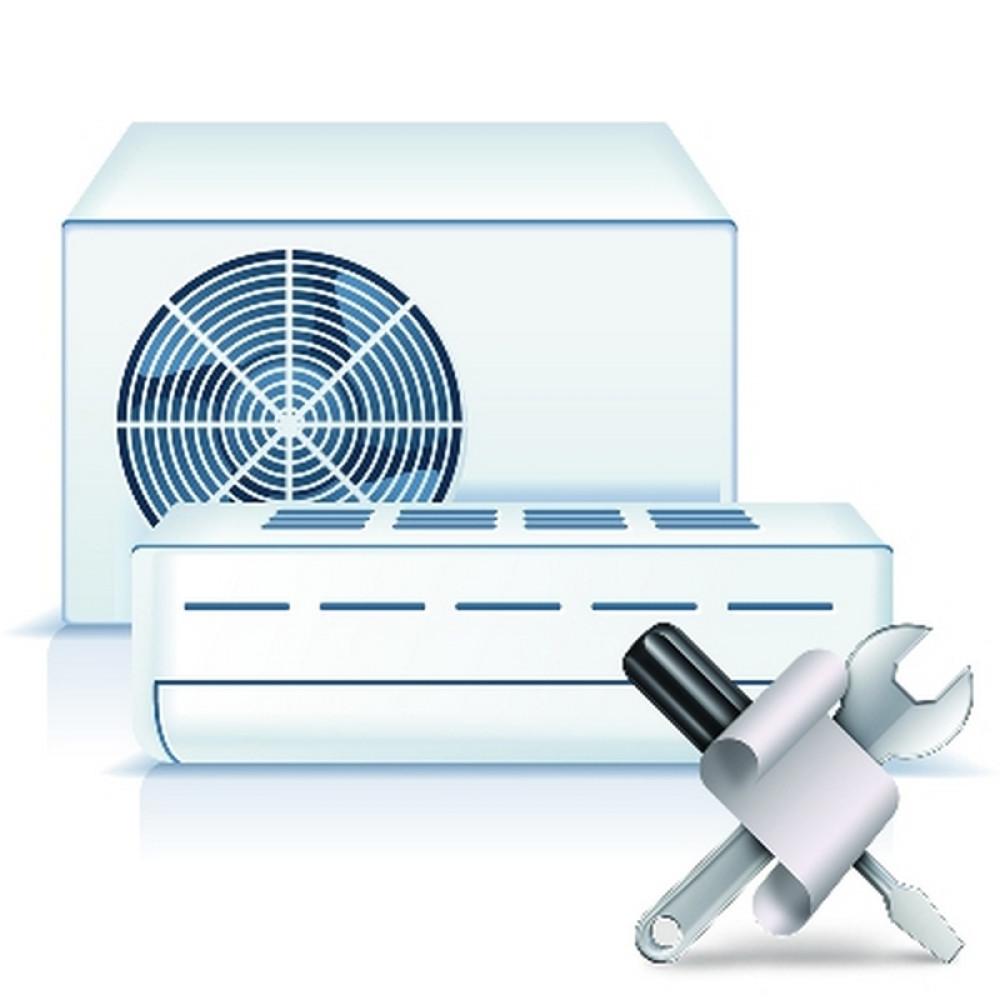 Установка колонной сплит системы мощностью до 7 кВт